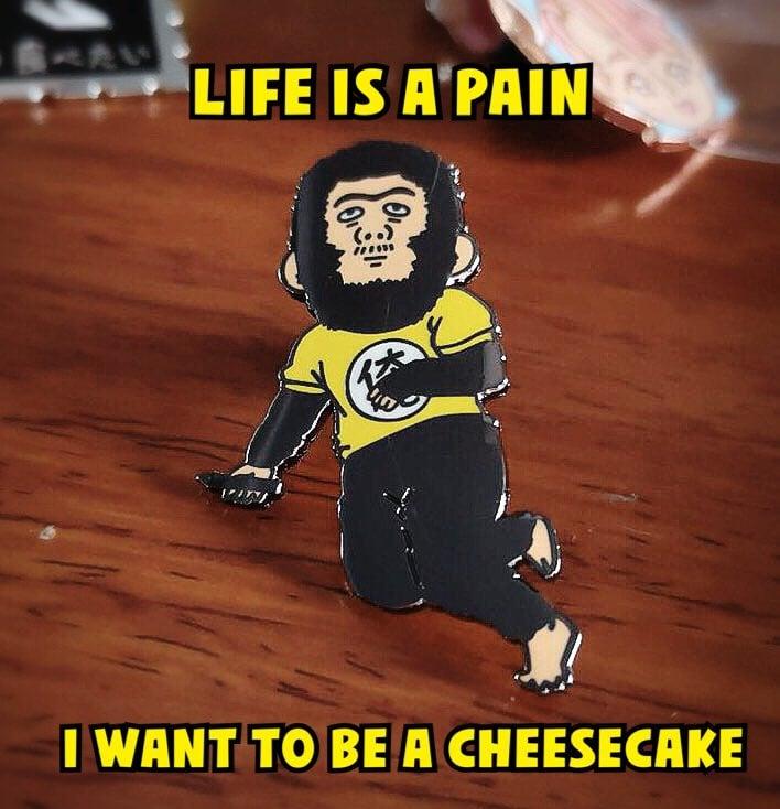Image of Sorachi Cheesecake Enamel Pin