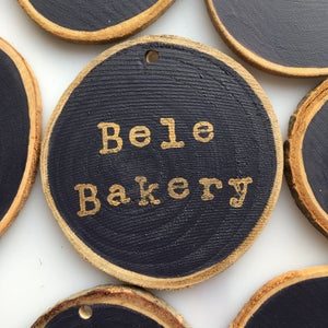 Image of Hand Stamped Personalised Decorations