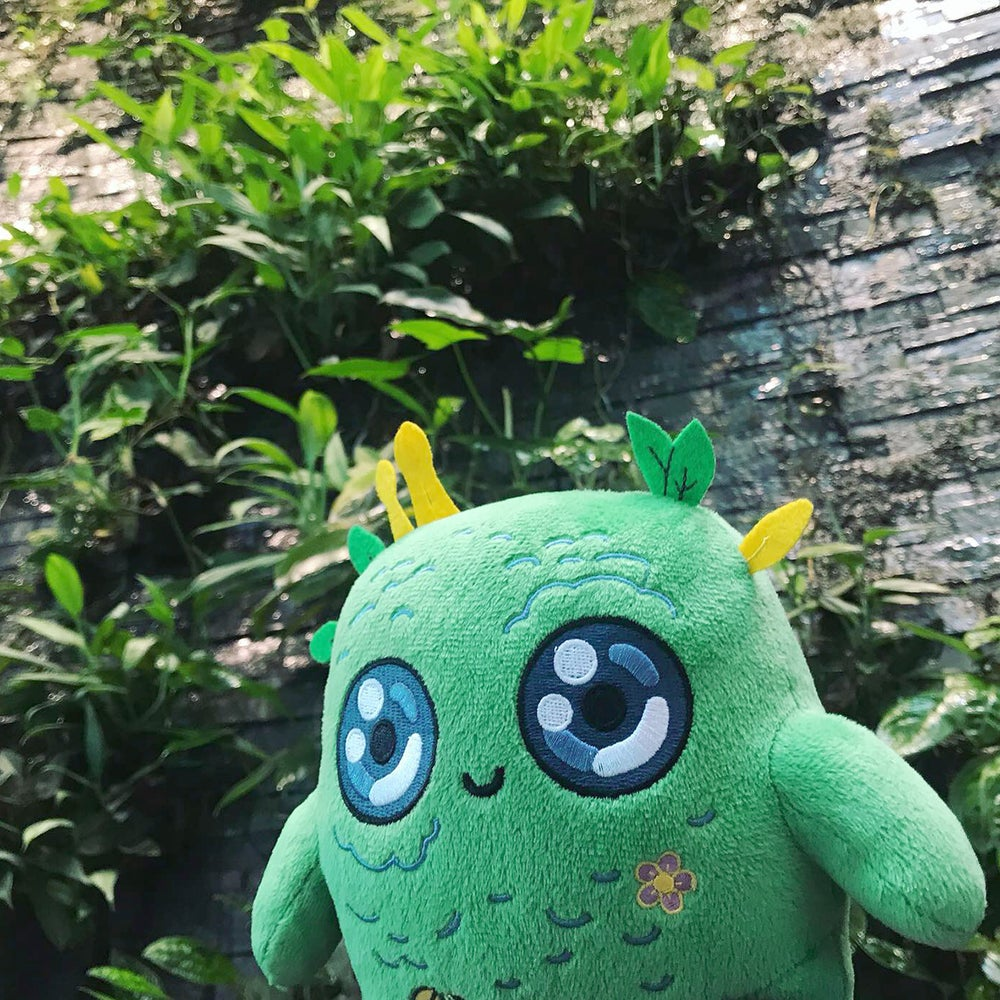 Image of MOSSY - The Moss Spirit - Plushie Pillow