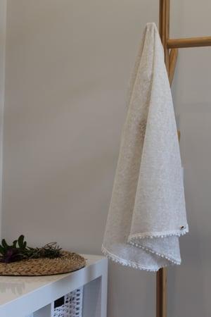 Image of Boho Linen Jersey Knit Wrap.