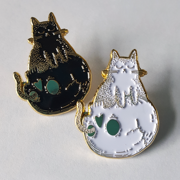 Image of 'I SITS' Enamel Pin