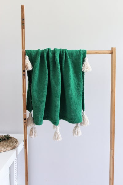 Image of Recycled Cotton Knit Pram Blanket.