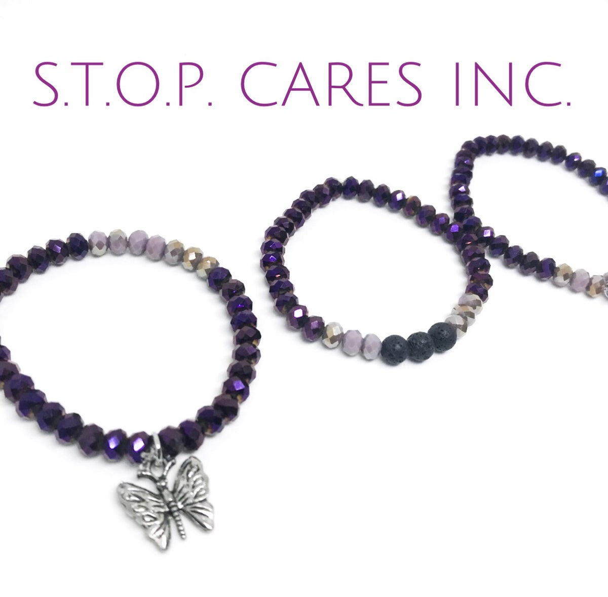 Image of S.T.O.P. Cares Inc. Bead Bracelet