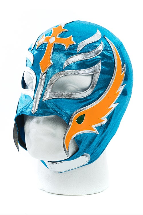 Image of Rey Mysterio x SPLX Lucha Mask (Blue/Orange)