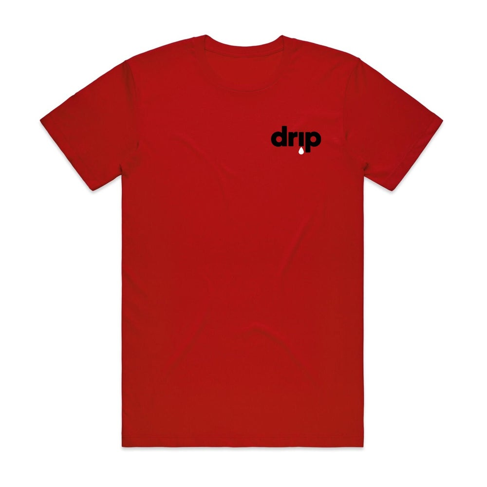 Image of ///BENJAMIN BROS. X DJ SCREAM - DRIP TEE - RED