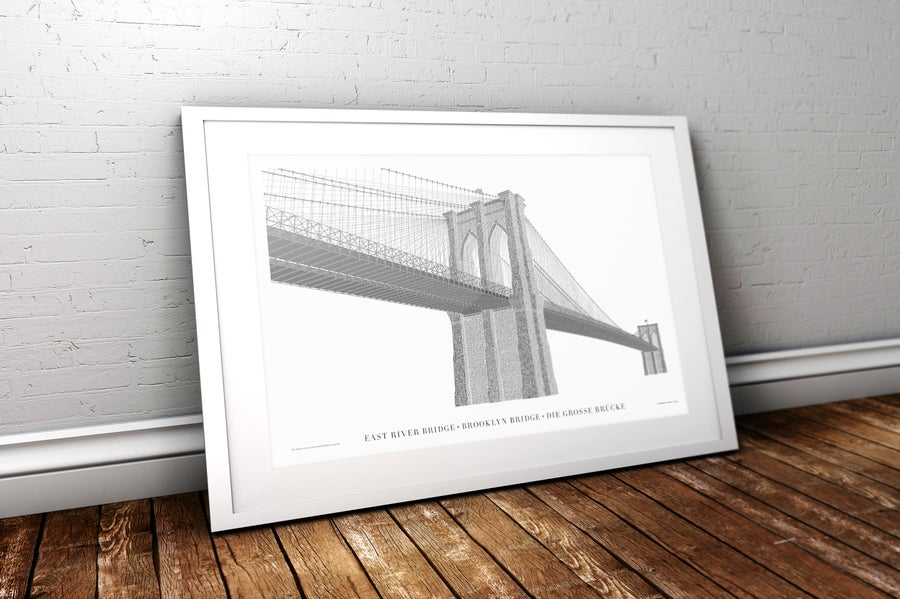 Image of Brooklyn Bridge Reimagined in Type