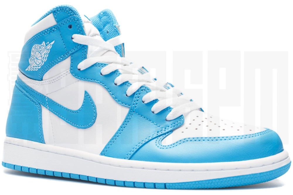 "Image of Nike AIR JORDAN 1 RETRO HIGH OG ""POWDER BLUE"""