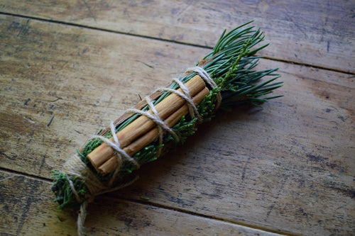 Image of Wild Forest Cleansing Wand | wildcrafted smudge stick