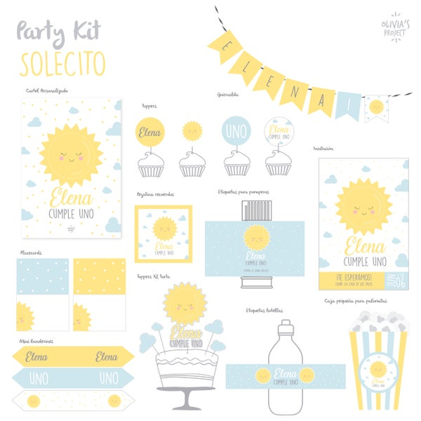 Image of Party Kit Solecito Impreso