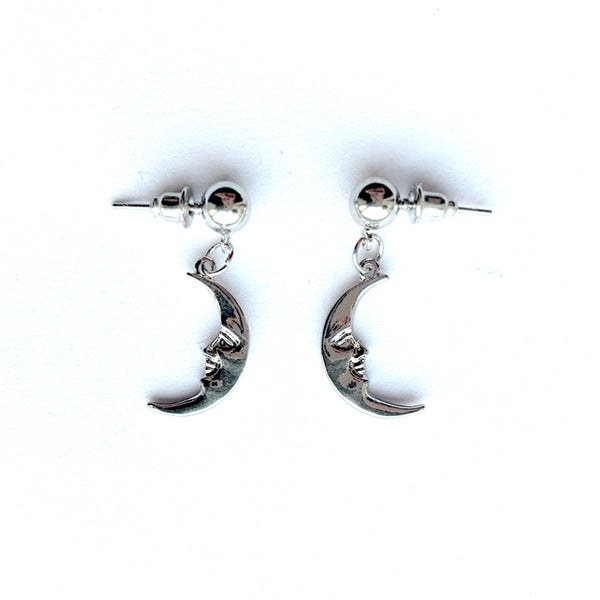 Image of Man in the moon stud earrings