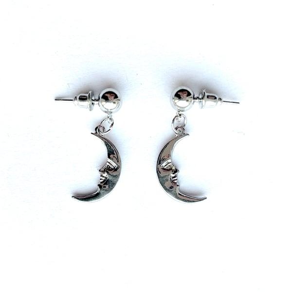 Image of Man in the moon stud earrings