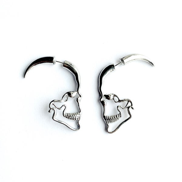 Image of Til Death Skull earrings