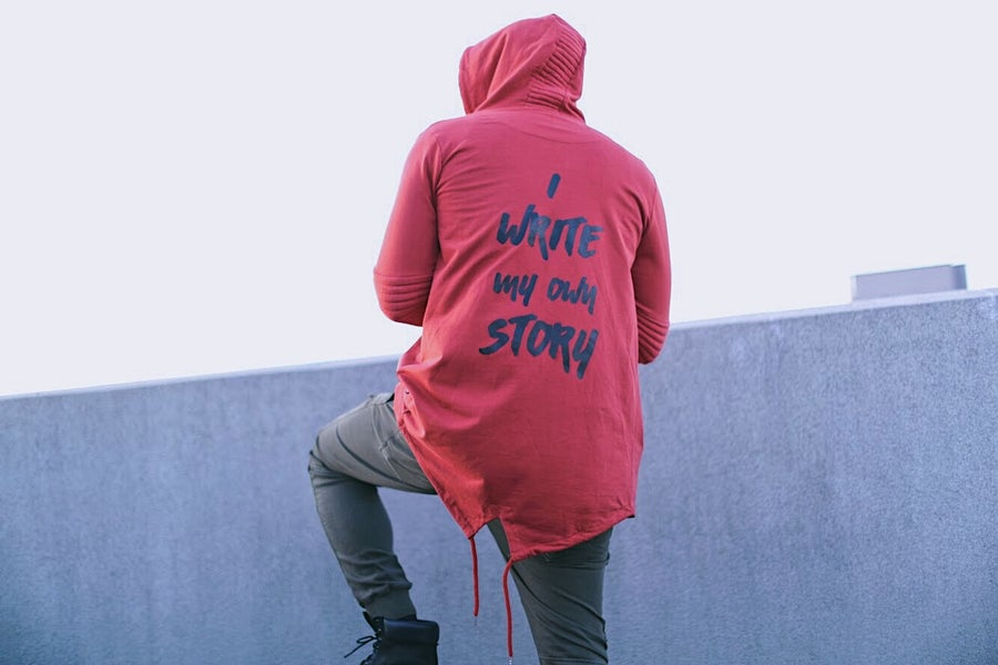 Image of #WriteMyOwnStory Fishtail Hoodie
