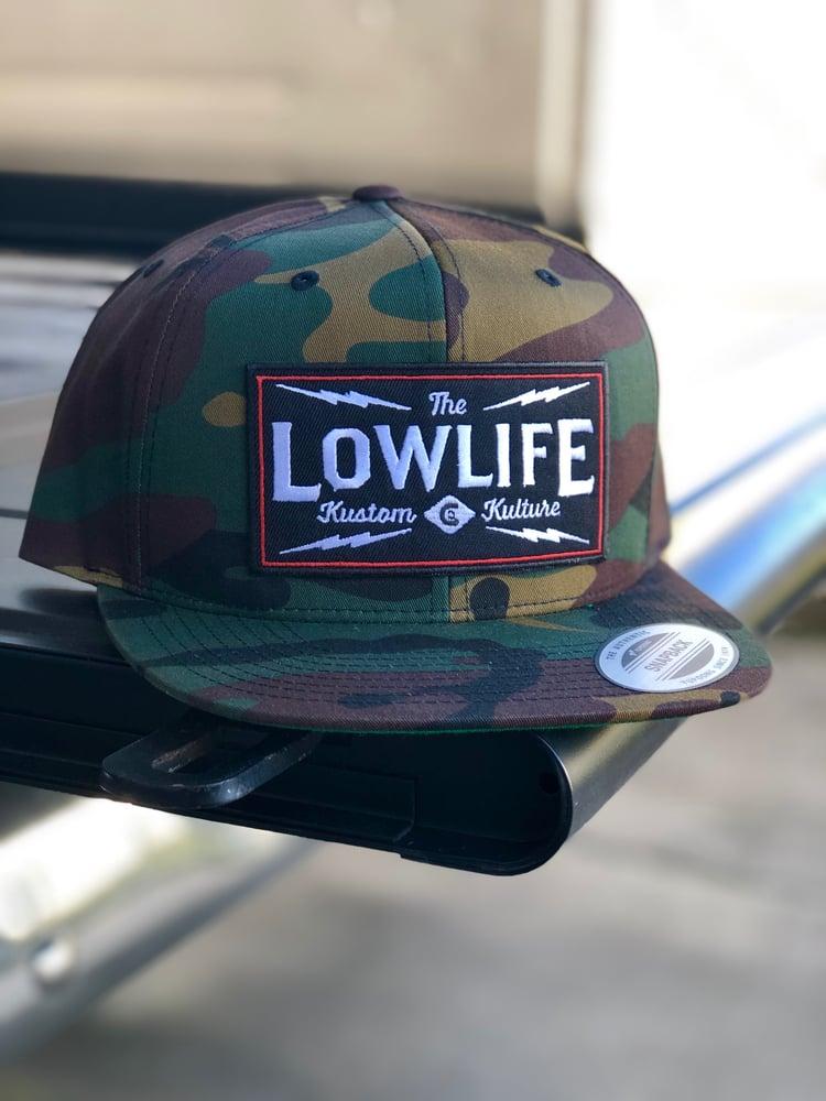 Image of Camo Lowlife Kustom Kulture Hat