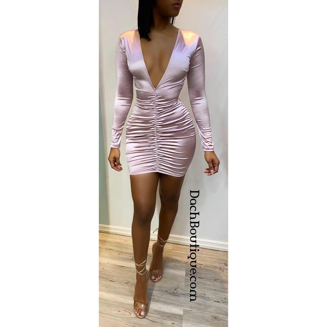 Image of Satin Beauty Dress