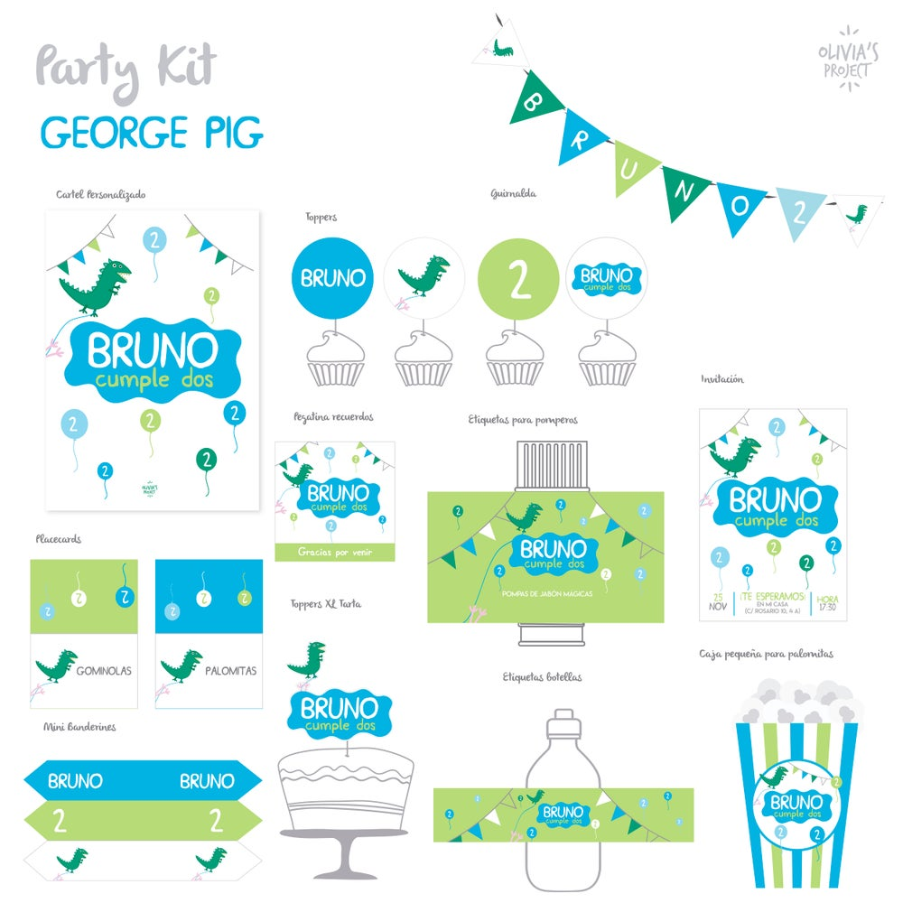 Image of Party Kit George Pig Impreso