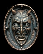 "Image of ""Devil's Head"" Plaque- Faux Bronze Edition"