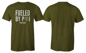 Image of Fueled By Poi (Army Green) Keiki Shirt