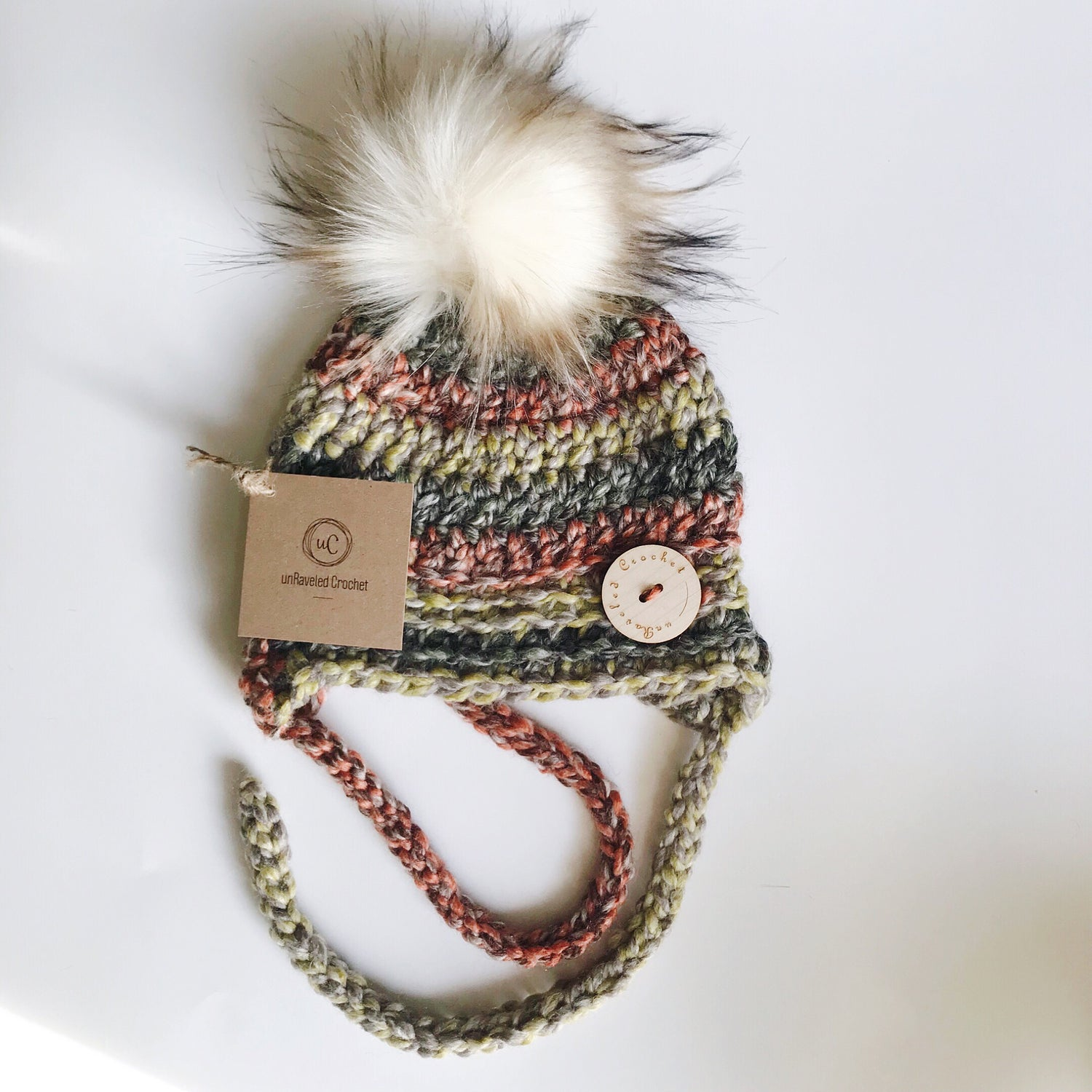 Image of Ready to Ship- 6-12 month Baby Earflap Hats