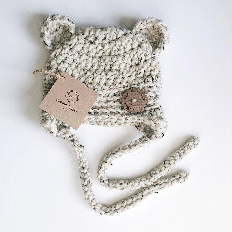 Image of Ready to Ship- Baby Bear Earflap Hats