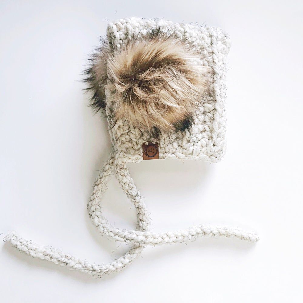Image of Ready to Ship- Double Fur Pom Bonnets