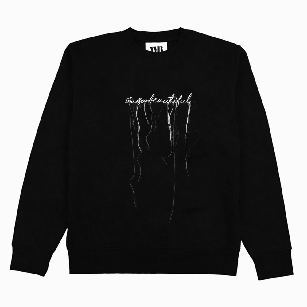 Image of 'I'M SO BEAUTIFUL' Embroidered Sweatshirt