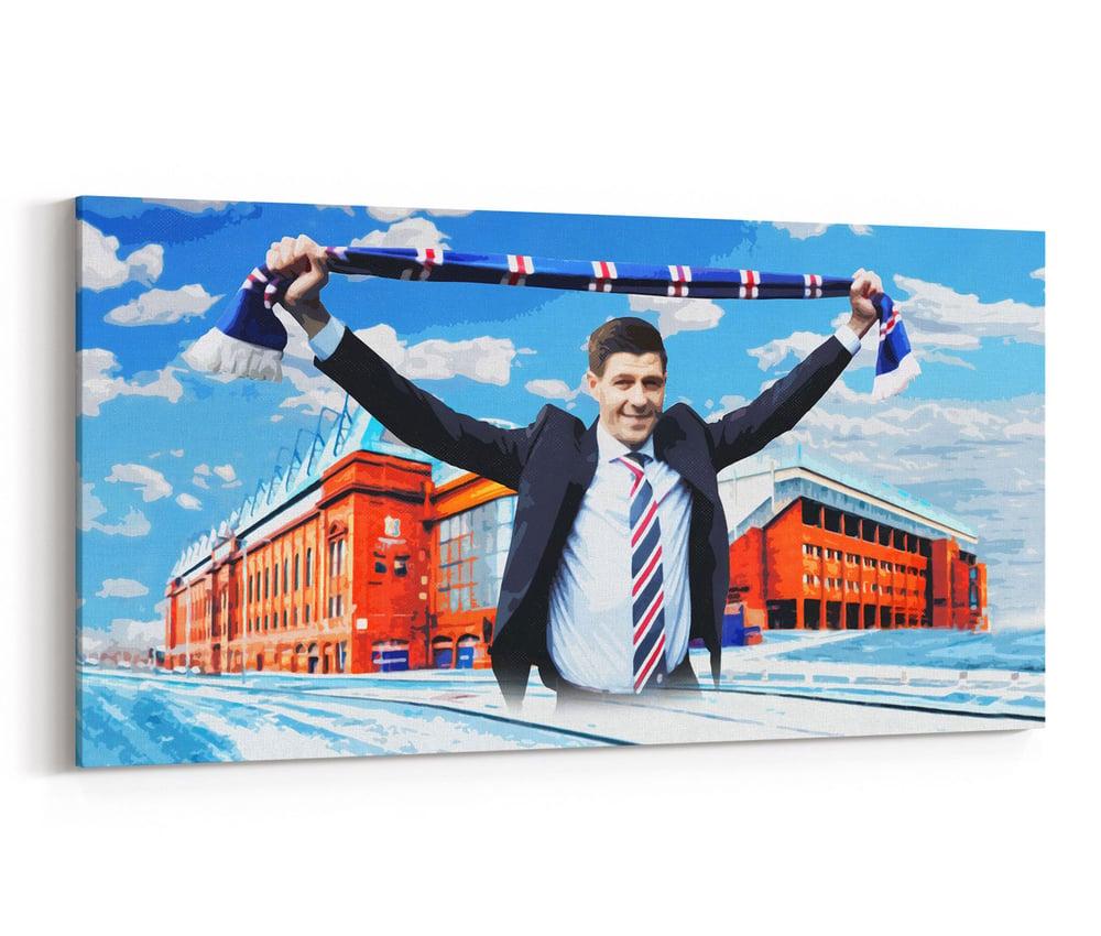 Image of Steven Gerrard, Ibrox Canvas