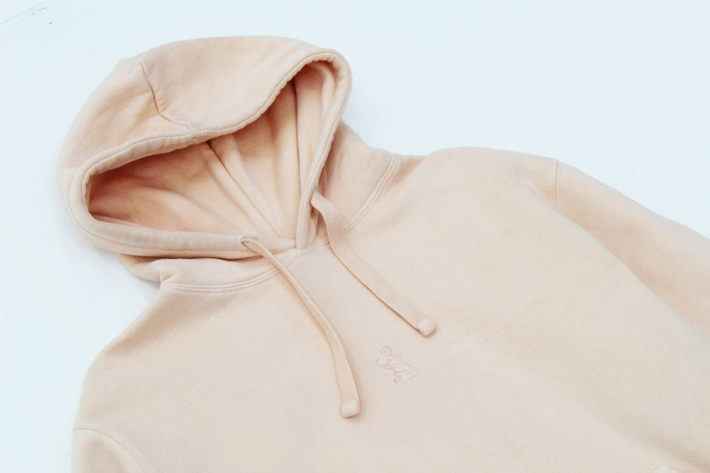 Image of Broski - Hand Dyed Medallion Hoody Coral