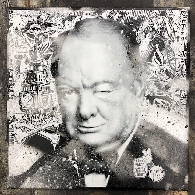 Image of Winkin' Churchill (tile)