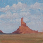 Image of Red Rock and Clouds