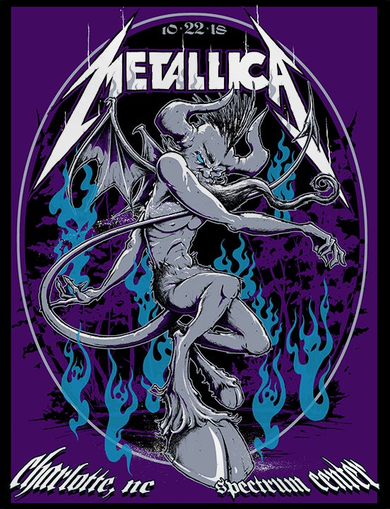 Image of METALLICA Charlotte White Stock Poster