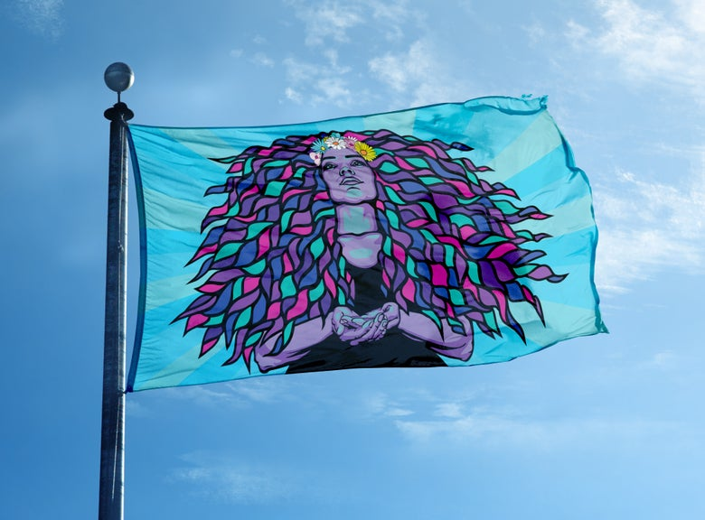 Image of GODDESS FLAG | 50% of profits go to Planned Parenthood