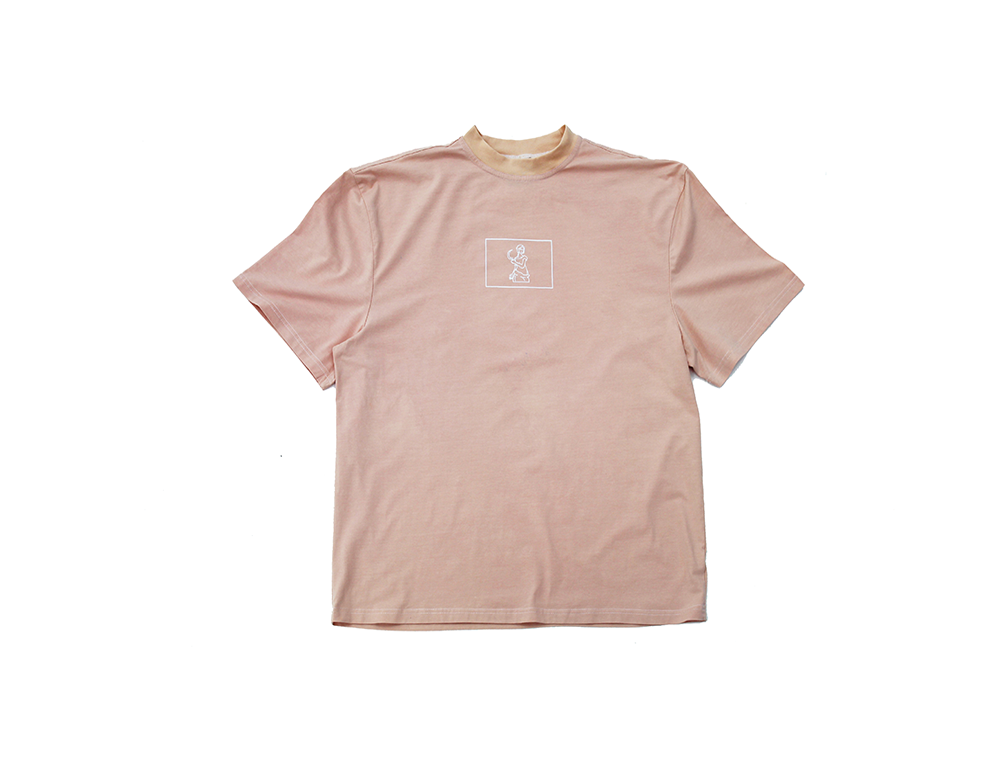 Image of Broski X Keazor Label - Hand Dyed T Shirt Contingent Coral