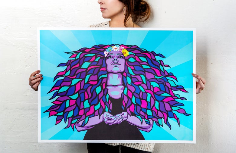 Image of GODDESS ART PRINT | 50% of profits go to Planned Parenthood