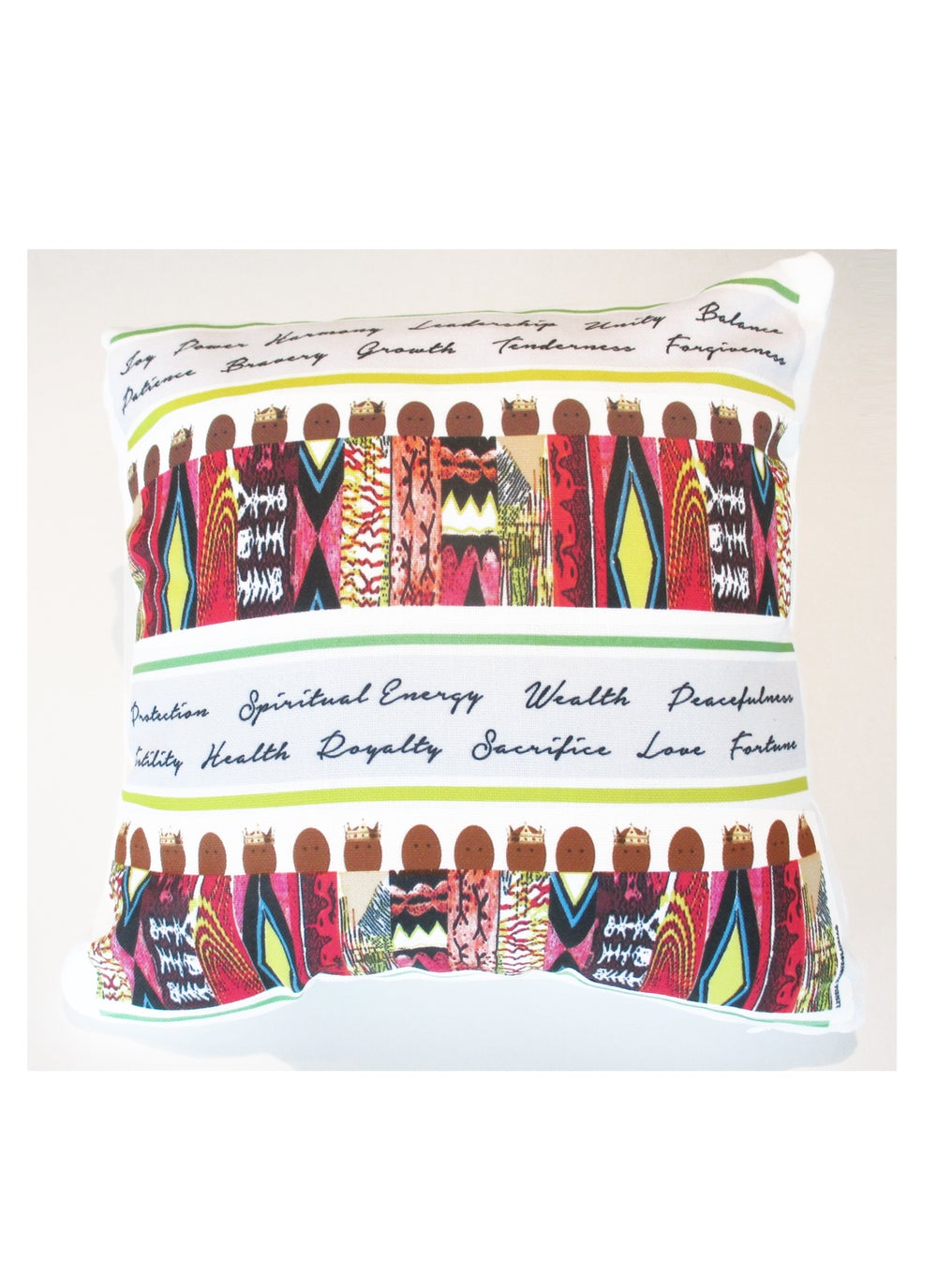 Image of Ashanti Kente Cloth Pillow 2