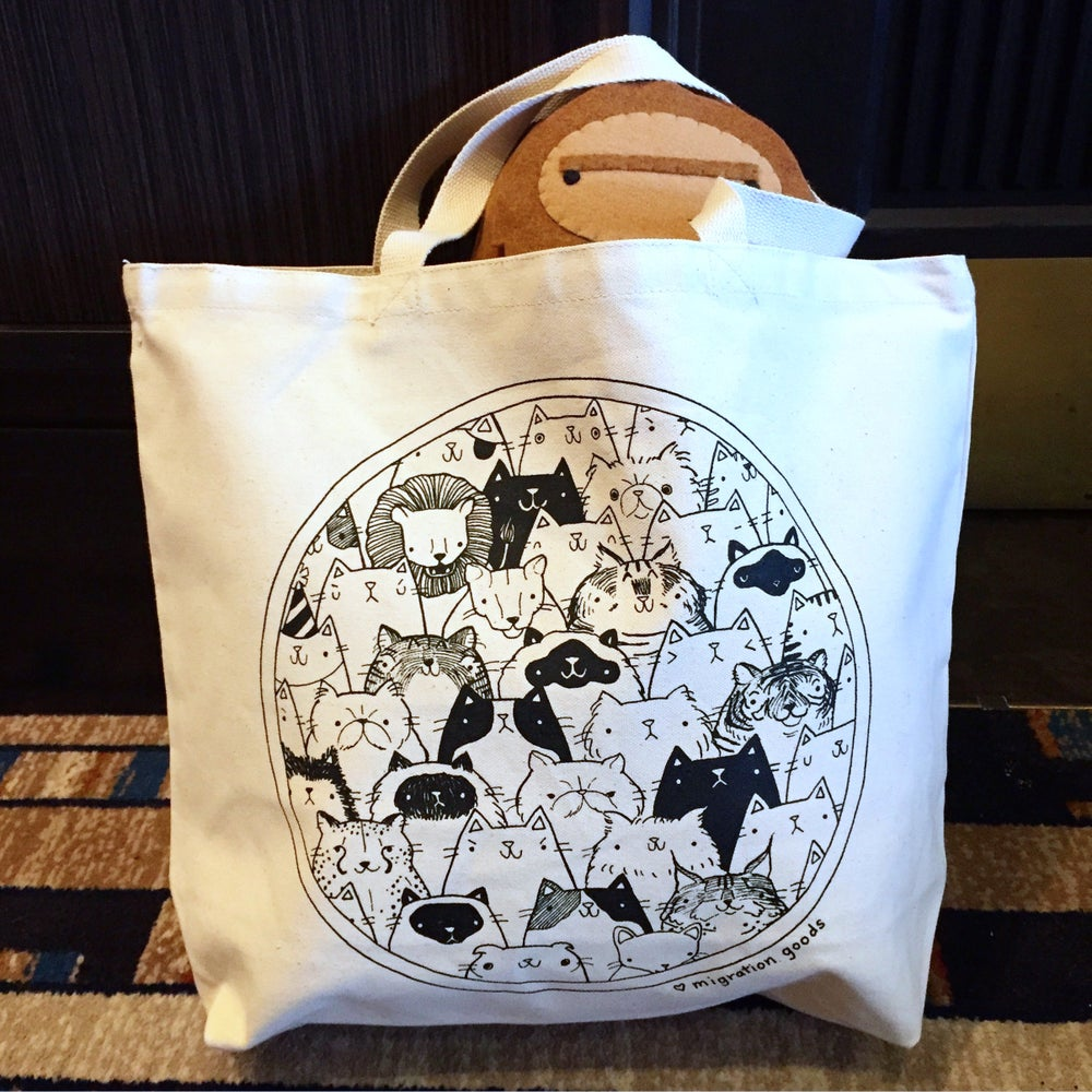 Image of cat gang XL tote