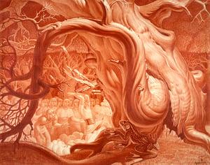 Image of Stanislav Szukalski: Krak at the Confessional Oak Print