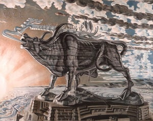 Image of Stanislav Szukalski: The Lowing Ox for Wolin Print
