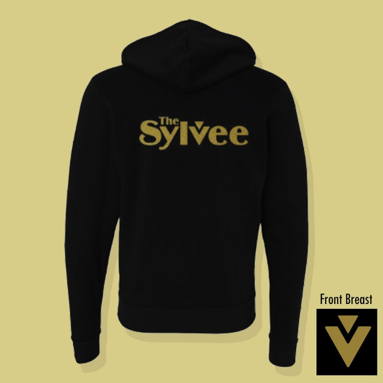 Image of Black / Gold Zip Up Hoodie