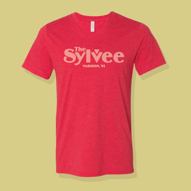 Image of Unisex Red V-Neck