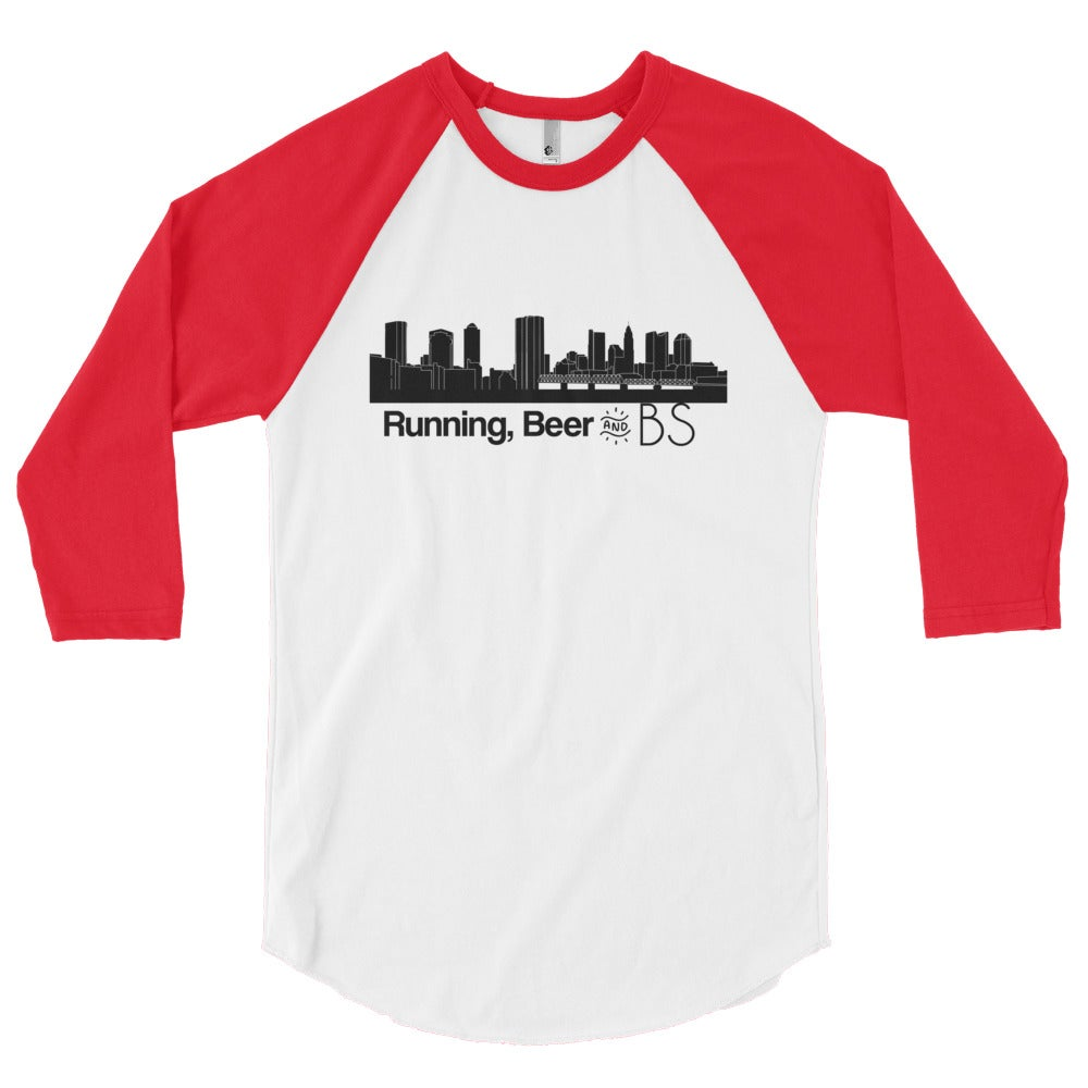 Image of Logo 3/4 sleeve tee (Red)