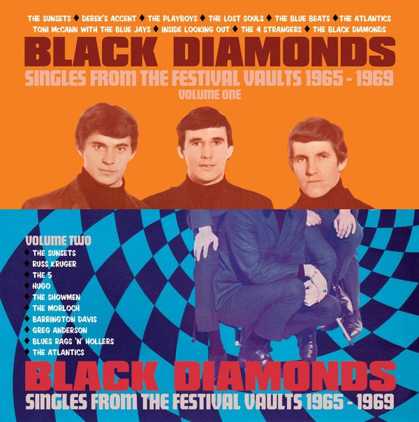 Image of Black Diamonds : Singles From Festival Vault 1965-1969 Vol One & Two (10 x 45 BOX SETS) & T-SHIRT!