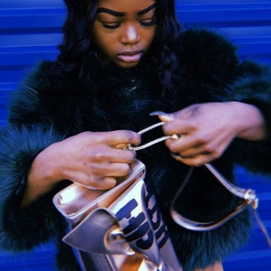 Image of Gold Bow Purse