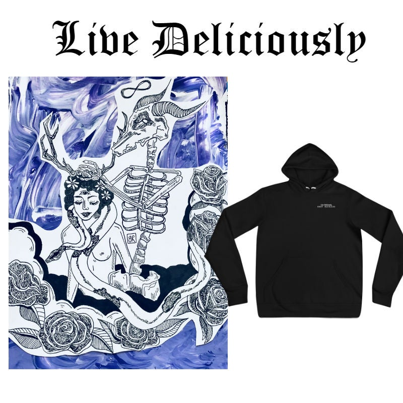 Image of Live Deliciously Hoodie
