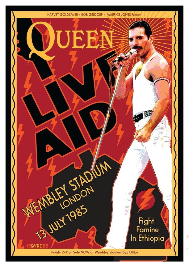 Image of QUEEN & Freddie Mercury at Live Aid July 1985
