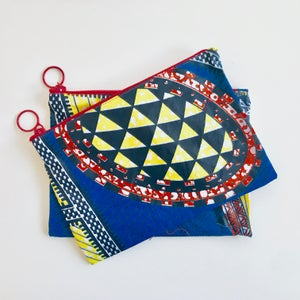 Image of Travel Pouch - Blue/Yellow/Red