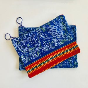 Image of Travel Pouch - Blue/Yellow/White