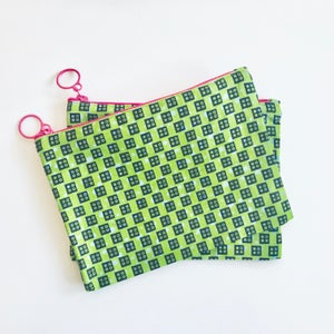 Image of Travel Pouch - Light Green/Dark Green