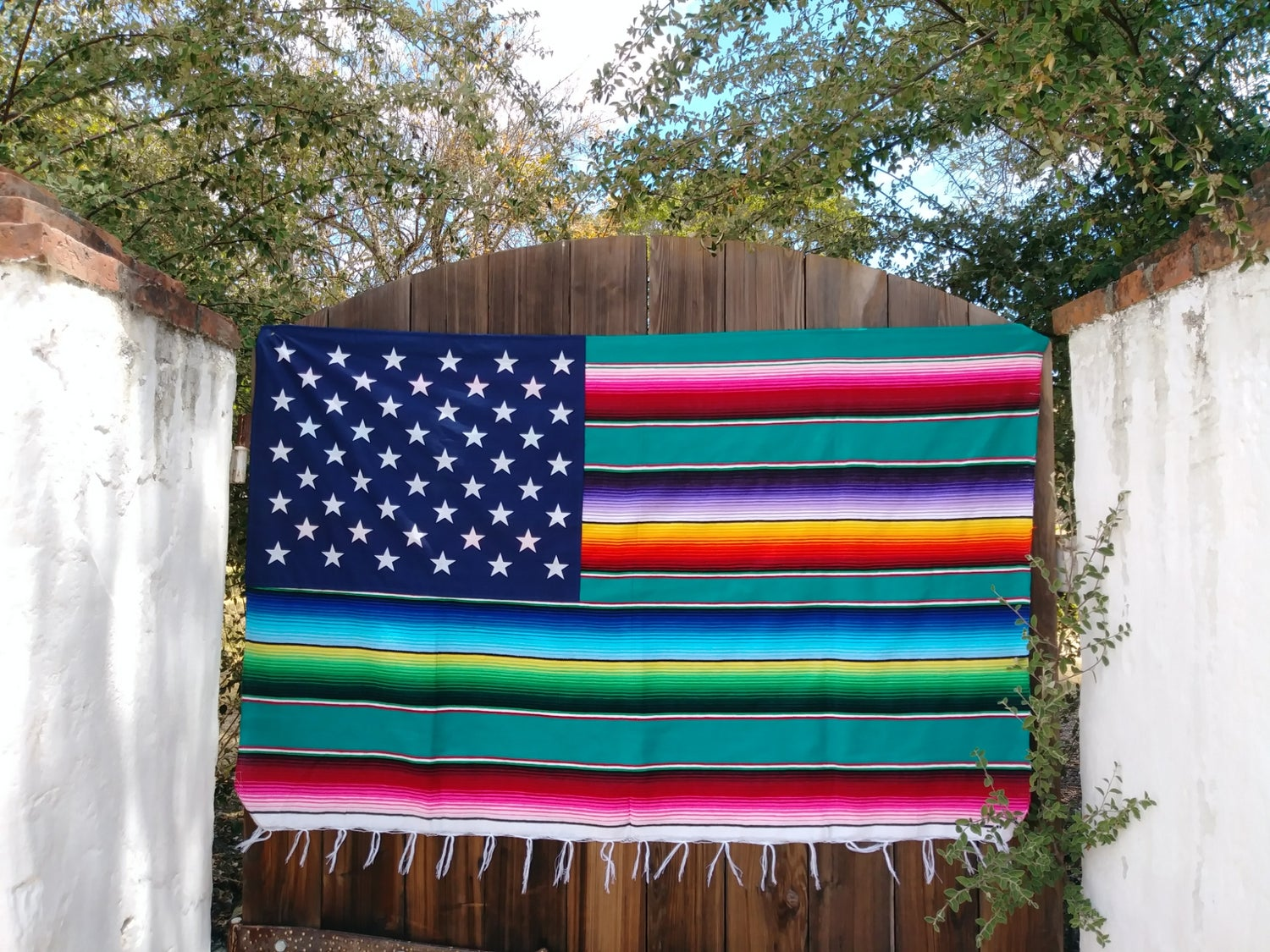 Image of 50 Star Serape Flag (Teal) PRE-ORDER PLEASE READ DESCRIPTION