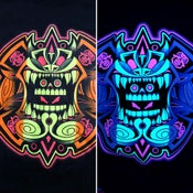 Image of Urban Aztec Logo Tee (Black Light Reactive)